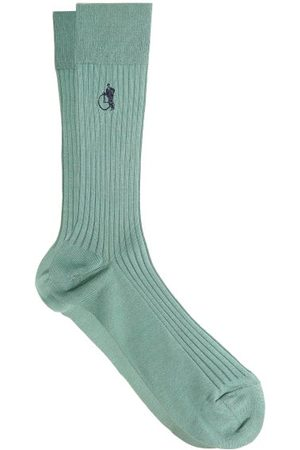 London Sock Company Simply Sartorial Rib-knitted Cotton-blend Socks - Mens