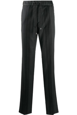 Etro Striped drawstring-waist trousers