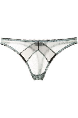 Kiki de Montparnasse Two-tone sheer thong