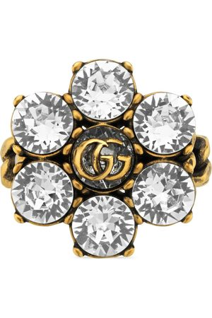 Gucci Rings - Crystal Double G ring