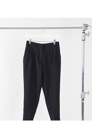 ASOS ASOS DESIGN Petite tailored smart tapered pants in black