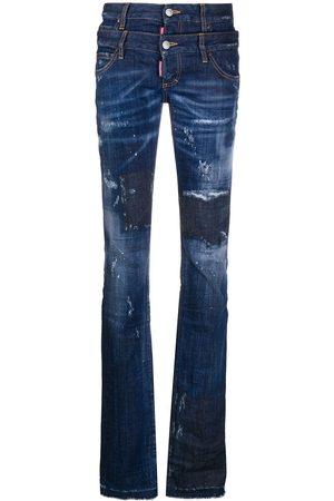 Dsquared2 Double-waist slim-fit jeans