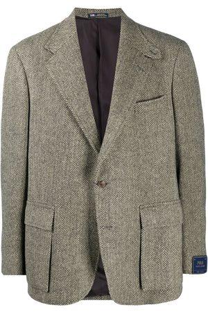 Polo Ralph Lauren Men Blazers - Herringbone single-breasted blazer
