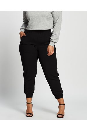 Love Your Wardrobe Bree Relaxed Rib Cuff Pants - Pants Bree Relaxed Rib Cuff Pants