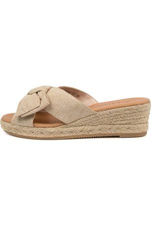 Django & Juliette Serena Dj Natural Sandals Womens Shoes Casual Heeled Sandals
