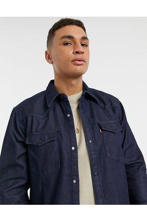 Levi's Barstow western relaxed fit denim shirt in bonded denim rinse-Blue