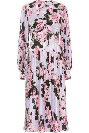 Erdem Venner floral jacquard satin dress