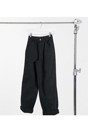ASOS ASOS DESIGN Petite slouchy chino pants in black