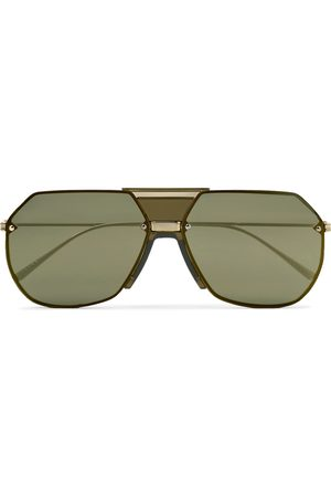 Bottega Veneta Men Sunglasses - Aviator-Style -Tone Mirrored Sunglasses