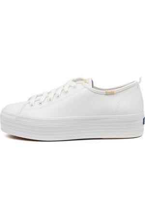 Keds Women Casual Shoes - Triple Up Leather Ke Sneakers Womens Shoes Casual Casual Sneakers