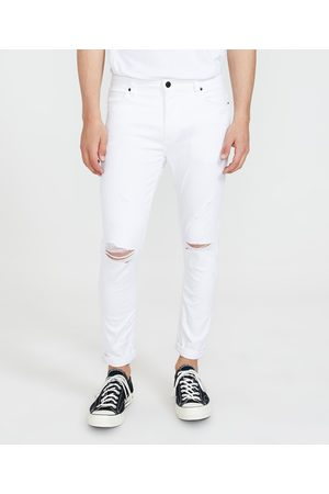 ABrand Men Skinny - A Dropped Skinny Turn Up Jeans Noise