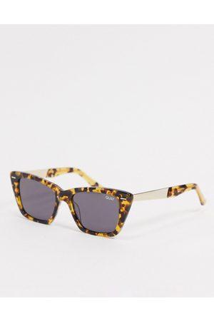 Quay Australia Quay Prove It womens cat eye sunglasses in tort-Brown