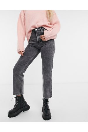 & OTHER STORIES & Keeper organic cotton straight cropped jeans in grey