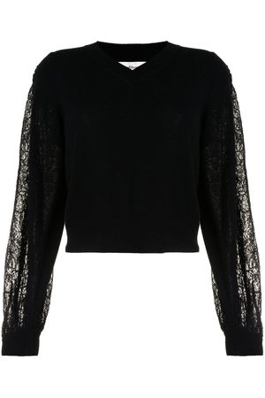 Onefifteen Lace sleeve knitted jumper