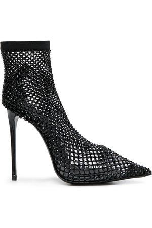 LE SILLA Gilda crystal-sock booties