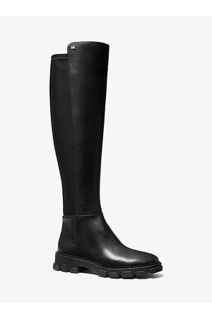 Michael Kors Women Boots - MK Ridley Leather Boot - - Michael Kors