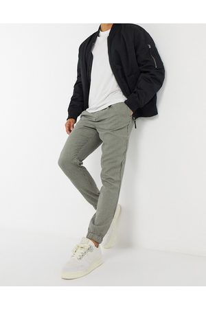 ASOS Tapered smart trackies in dogtooth-Stone
