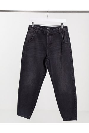 Only Troy tapered leg jeans in black