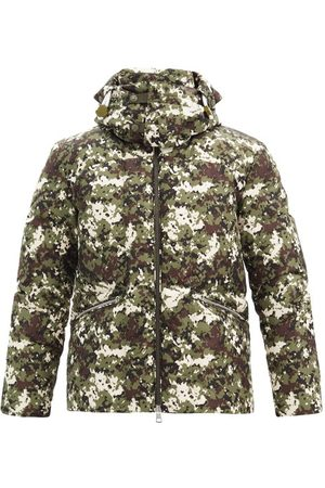 Moncler Blanc Camouflage-print Quilted Down Coat - Mens - Multi