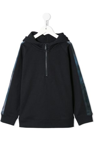Emporio Armani Logo-tape zipped hoodie