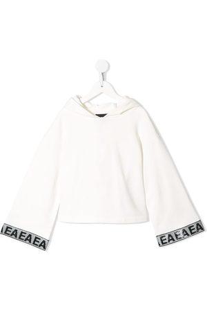 Emporio Armani Sequin-embellished wide-sleeve hoodie