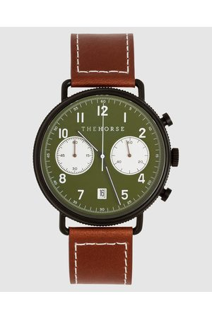 The Horse The Chronograph - Watches (Matte / Khaki Dial / Tan Leather) The Chronograph