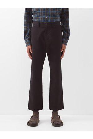 STUDIO NICHOLSON Bill Tapered-leg Cotton-twill Trousers - Mens