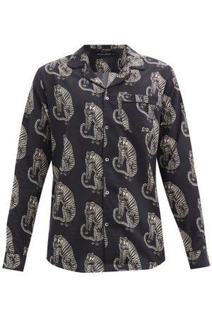 Desmond & Dempsey Men Casual - Sansido Tiger-print Cotton Pyjama Shirt - Mens - Multi