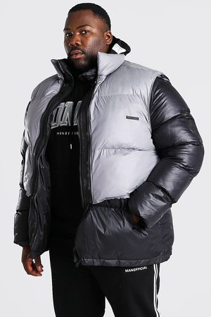 Boohoo Mens Plus Size Puffer With Detachable Gilet