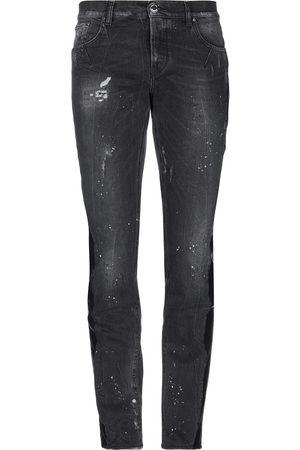 Les Hommes Men Leather Pants - Denim pants