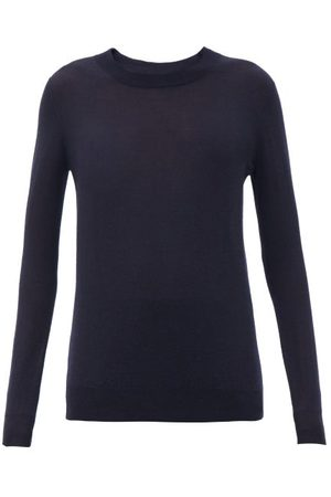 Joseph Women Sweaters - Cashair Longline Cashmere Sweater - Womens - Navy