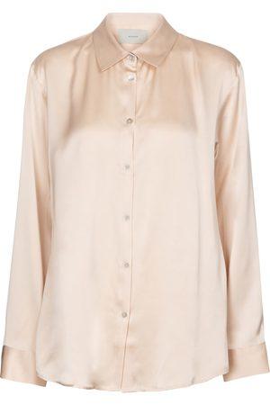ASCENO London silk satin pajama shirt
