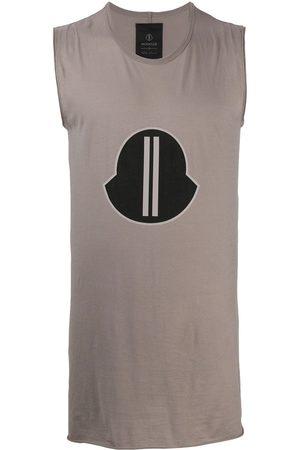 Moncler + Rick Owens Logo-print tank top