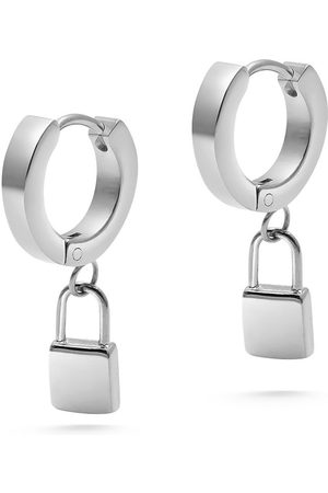 Nialaya Padlock drop earrings