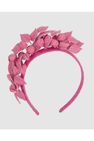 Max Alexander Fuchsia Leather Flowers Headband - Fascinators (Fuchsia) Fuchsia Leather Flowers Headband