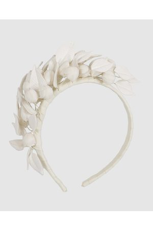 Max Alexander Cream Leather Flowers Headband - Fascinators (Cream) Cream Leather Flowers Headband