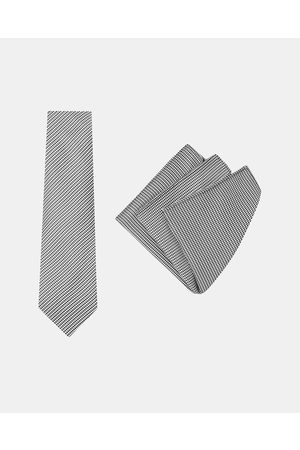 Buckle Vintage Tie & Pocket Square Set - Ties (Dogtooth) Vintage Tie & Pocket Square Set