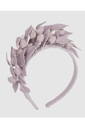 Max Alexander Lilac Leather Flowers Headband - Fascinators (Lilac) Lilac Leather Flowers Headband