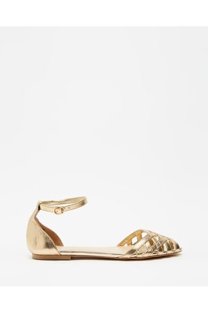 Atmos&Here Dana Leather Woven Flats - Sandals (Soft Leather) Dana Leather Woven Flats