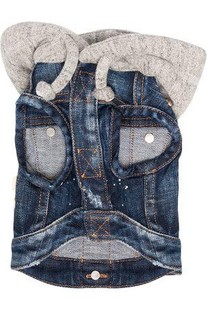 Dsquared2 Denim patch hooded jacket