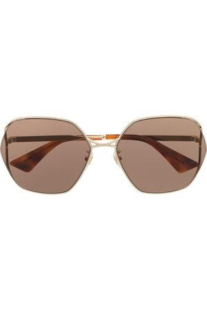 Gucci Oversized-frame logo sunglasses