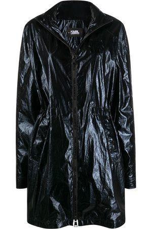 Karl Lagerfeld Ikonik metallic parka coat