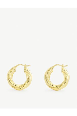 Oma The Label Amba 18ct -plated hoop earrings