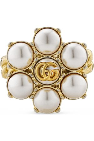 Gucci Rings - Pearl Double G ring