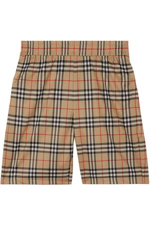 Burberry Men Shorts - Check-print shorts
