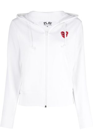 Comme des Garçons Cropped overlapping logo hoodie