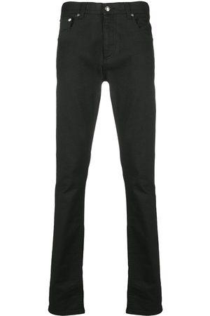 Alexander McQueen Men Slim - Logo-studded slim-fit jeans