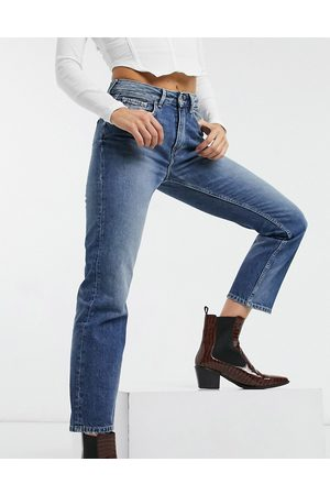 Pepe Jeans Mary high-waist straight leg jeans in blue