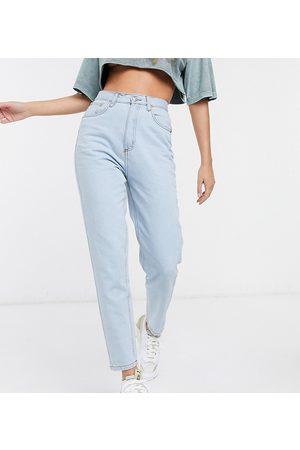 Wednesday's Girl High waist straight leg jeans in light wash-Blue
