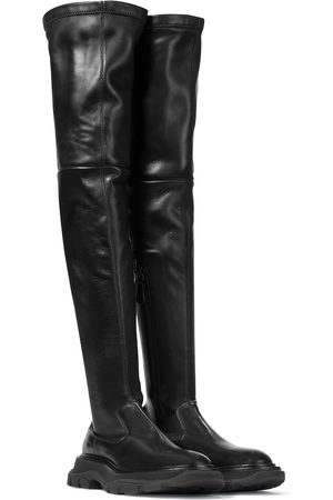 Alexander McQueen Tread leather over-the-knee boots